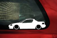 2x LOW Honda CRX Del Sol VTi, SRi, Si,Vtec. outline,silhouette stickers / decals